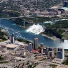 Niagara iš viršaus: matyti Kanados ir JAV pusės