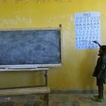 Amharu abeceles mokymasis Lalibelos mokykloje