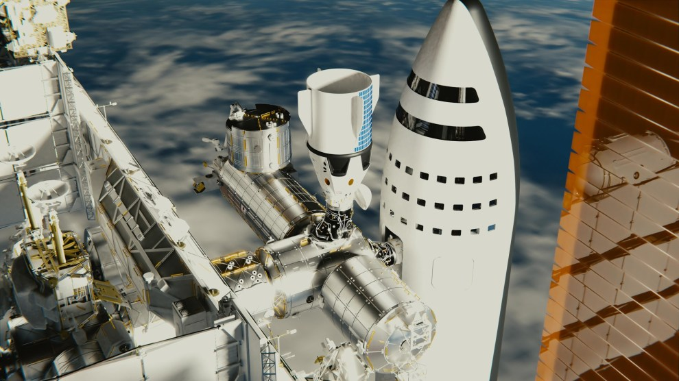 SpaceX-BFR-spaceship-docked-to-International-Space-Station-by-brickmack