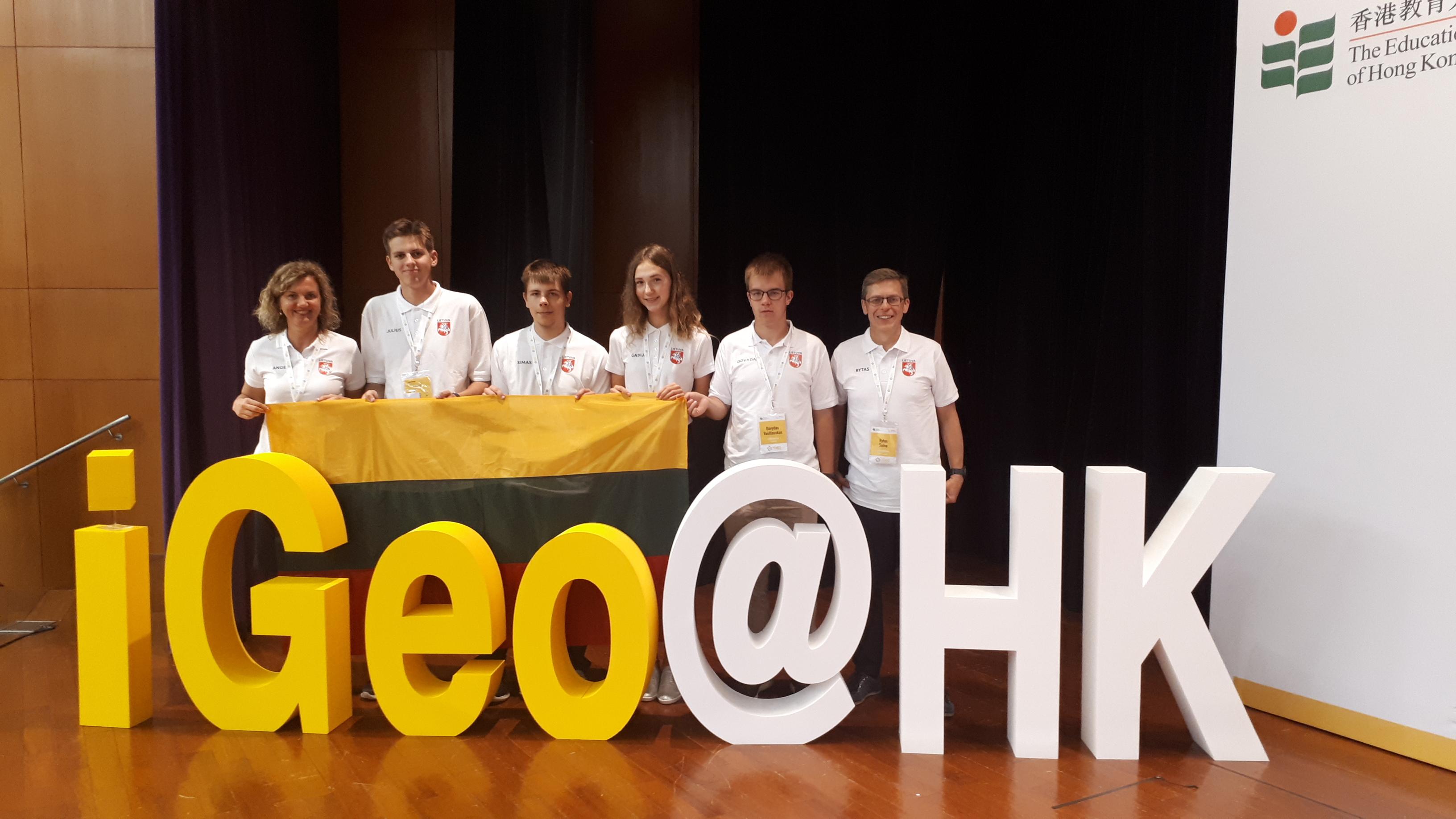 Lietuvos komanda XVI tarptautineje geografijos olimpiadoje