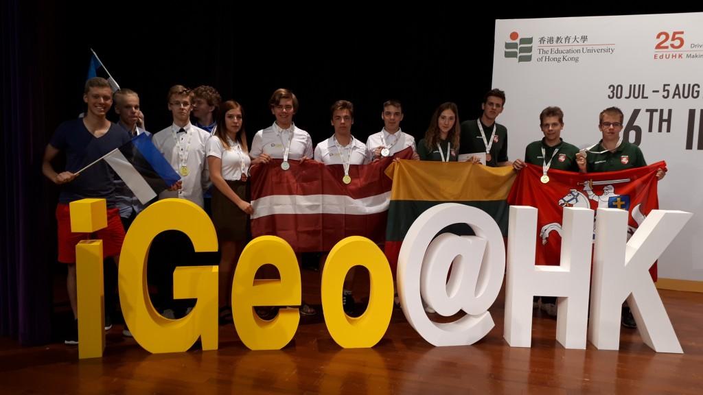 Baltijos saliu medaliai tarptautineje geografijos olimpiadoje Honkonge