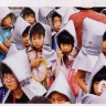 Japonų vaikai per civilinės saugos pratybas