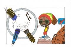 Mokinių karikatūros