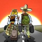 emigracija (karikatura.lt)